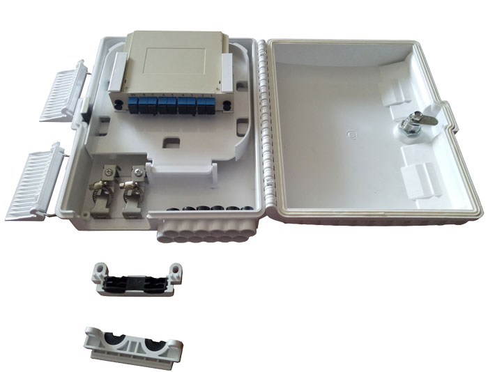 8 Core Fiber Splitter Distribution Box With LGX Splitter FDB-08J