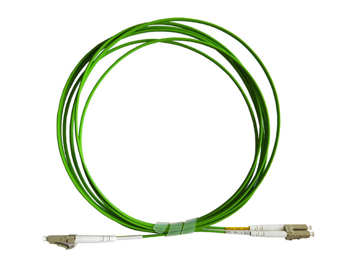 OM5 LC to LC Fiber Patch Cord Duplex 2.0mm Lemon Green, Low Smoke Zero Halogen (LSZH) rated, TSB-304K