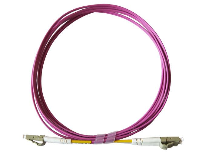 Fiber Optic Patch Cord LC-LC Duplex 2.0mm OM4 Violet LSZH TSB-304H