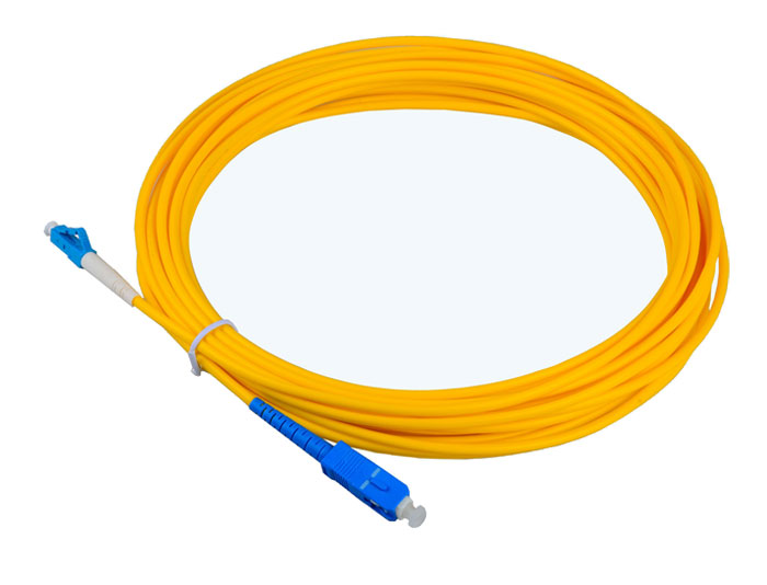 LC to LC Fiber Patch Cord OS2 Single Mode Fiber Simplex 3.0mm, Low Smoke Zero Halogen (LSZH) rated TSB-304A