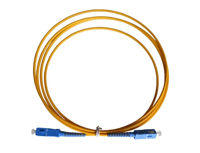 Fiber Optic Patch Cord SC to SC, OS2 Single Mode Fiber, Simplex G657A2 3.0mm, LSZH TSB-302A