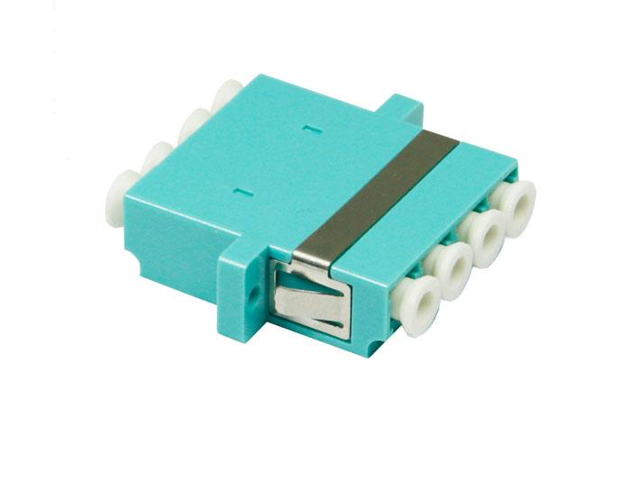 OM3 QUAD LC Fiber Optic Adapter With Flange OFA-104K