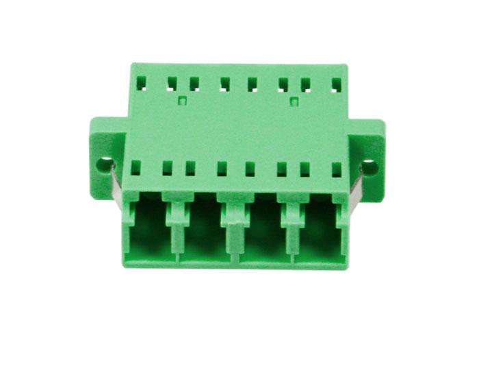 LC/APC QUAD Symmetry-type Fiber Optic Adapter With Flange OFA-104J
