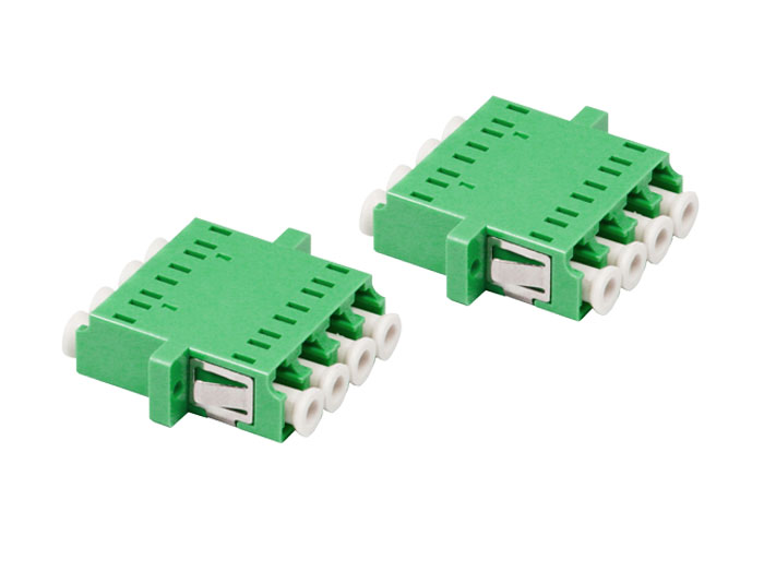 LC/APC QUAD Symmetry-type Fiber Optic Adapter With Flange OFA-104J