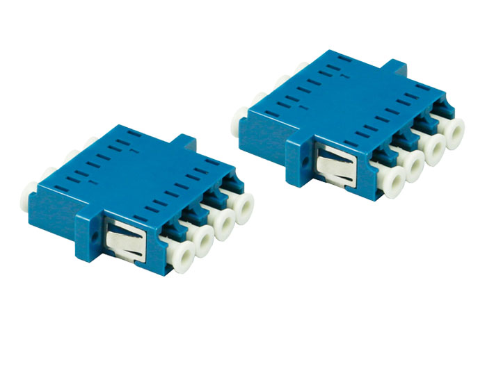 LC QUAD Adapter With Flange, LC UPC Fiber Optic Couplers OFA-104H