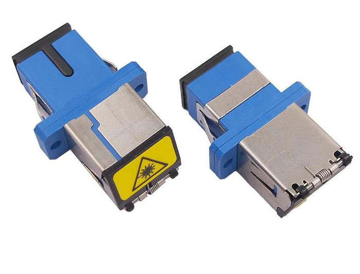 SC Shutter Avoid Laser Fiber Optic Adapter Without Flange OFA-102B9