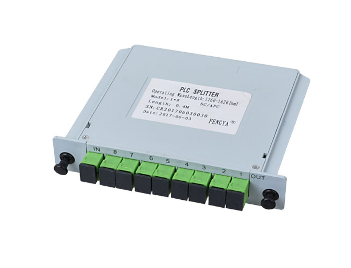 1x8 SC Fiber Optic Insert Splitter TSB-408A