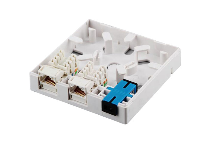 3 Port RJ45+SC Adapter Fiber Outlet Box GZF-A3