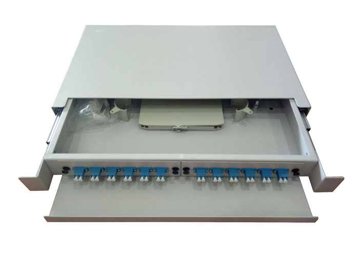 19 Inch 24 Core Slide Out Fiber Optic Patch Panel GZFB-2022B-R24