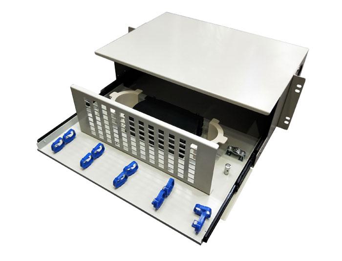 19 Inch 96 Core Rack Mount Fiber Distribution Panel GZFB-2022C-R96