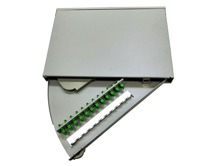 19 Inch 12 Port Swing Out Fiber Optic Patch Panel GZFB-2088A