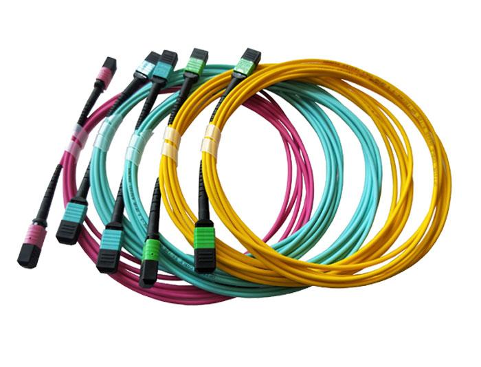 MPO/MTP OM3 LSZH Fiber Optic Trunk Cable TSB-307B