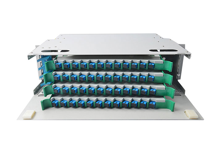 19 Inch 48 Core Fiber Optic Distribution Panel ODF-RF48A