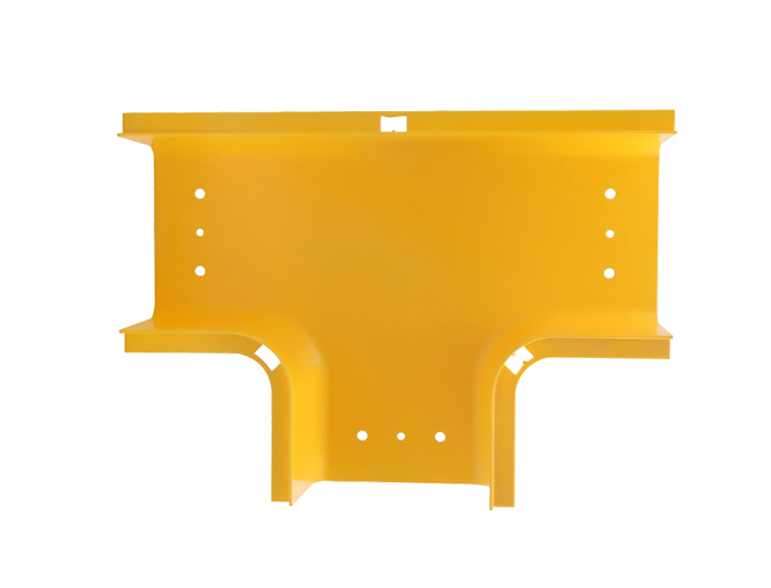 Fiber Raceway Horizontal Tees Fitting PVC with Cover Yellow FSQ-103