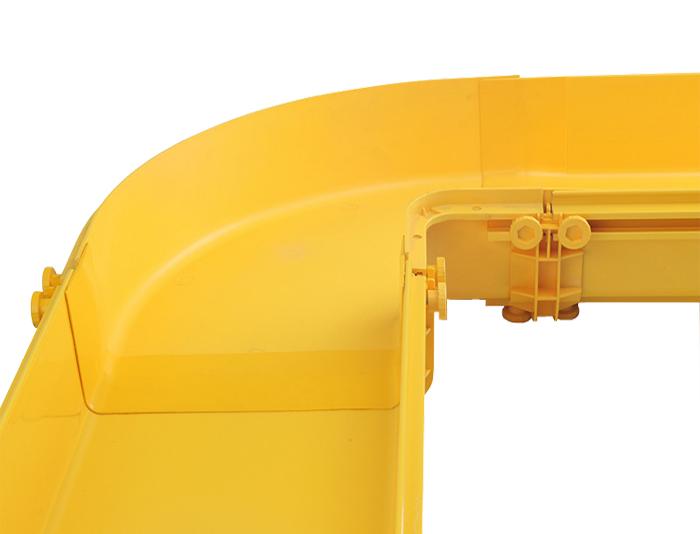 Fiber Runner Horizontal 90°C Elbows PVC with Cover Yellow FSQ-105