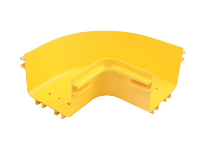Fiber Raceway Horizontal 90°C Elbows PVC with Cover Yellow FSQ-105