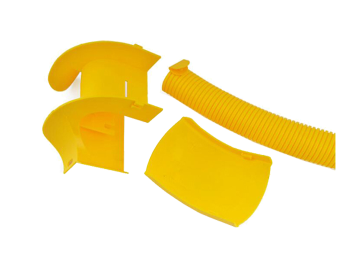 Fiber Ducting System Downspout Kit PVC Yellow FSQ-106