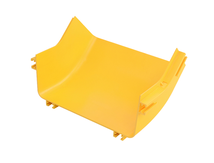 Fiber Raceway Up 45°C Elbow PVC with Cover Yellow FSQ-109