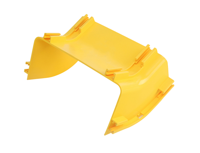 Fiber Optic Raceway System Down 45°C Elbow PVC with Cover Yellow FSQ-201