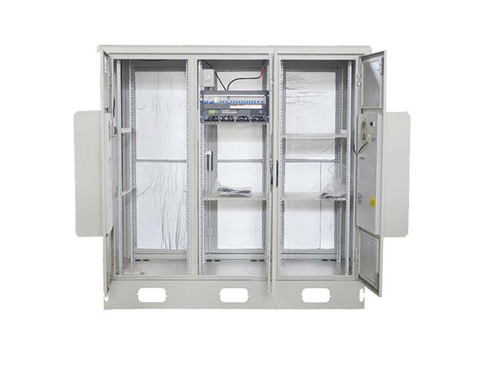42U IP55 Outdoor Telecom Cabinet Integrated Cabinet With Air Heat Exchanger MTC42U-DK