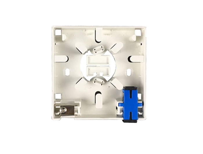 2 Core FTTH Fiber Optic Wall Socket GZF-A2