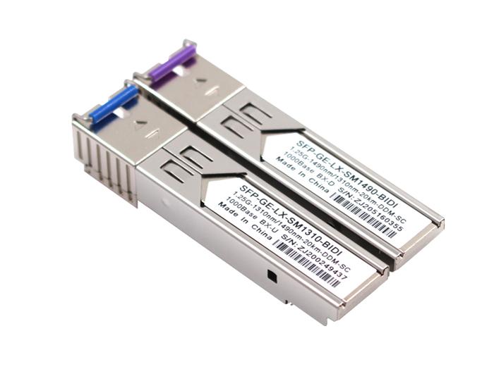 1000BASE-BX-D BiDi SFP Tx:1490nm/Rx:1310nm 10km DOM LC SMF Transceiver Module