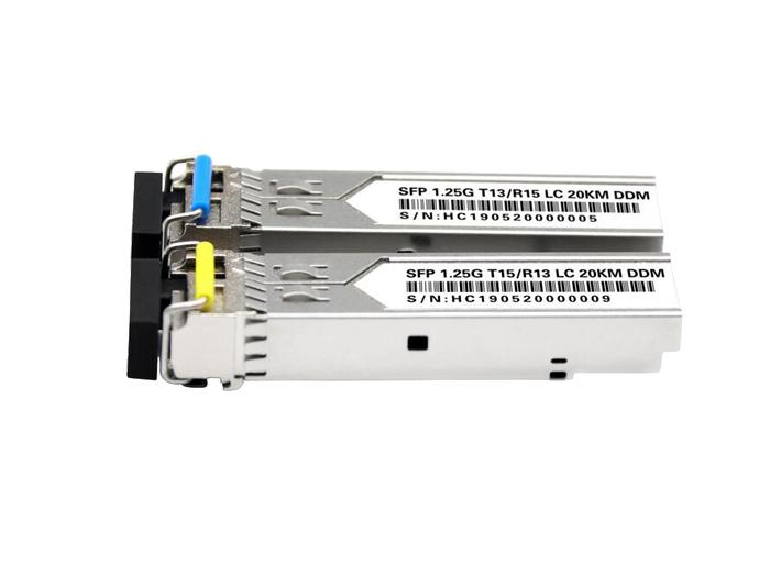 1000BASE-BX BiDi SFP Tx: 1310nm/Rx:1550nm 10km DOM LC SMF Transceiver Module