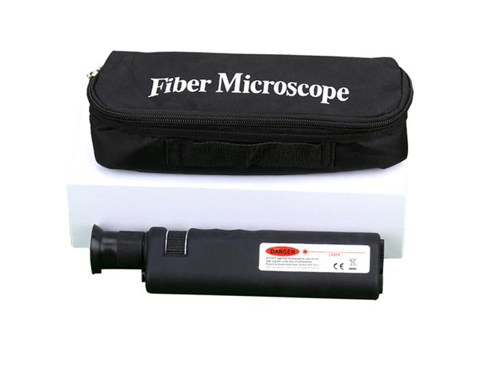 Handheld 400X Fiber Optic Inspection Microscope For LC/SC/ST/FC Connectors TQB-505C