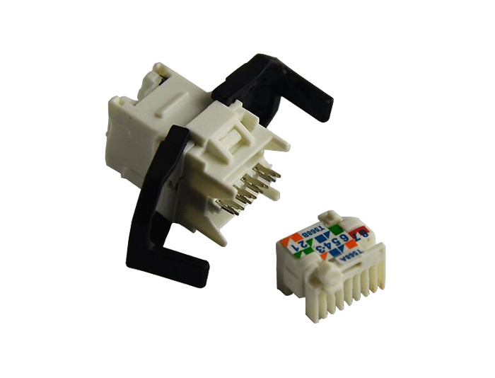 Cat6 RJ45 (8P8C) Unshielded Keystone Jack TSF-302D1