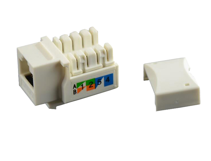 Cat5e RJ45 (8P8C) Unshielded Keystone Jack Module TSF-302A1