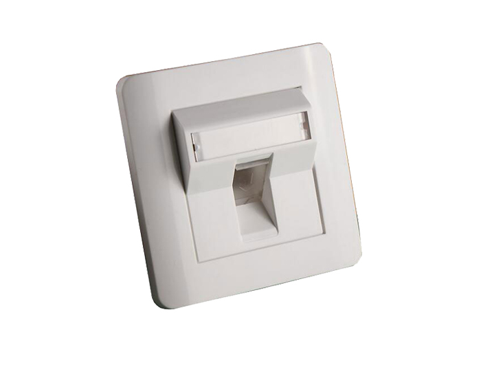 86x86 Type, Double Port, Angled Faceplate TSF-301E