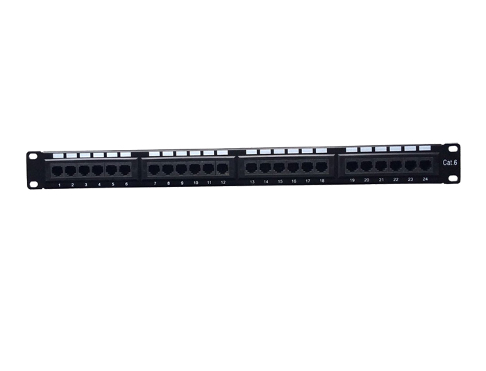 24 Ports Cat6 1U Unshielded 110 Punch Down Patch Panel TSF-303B2