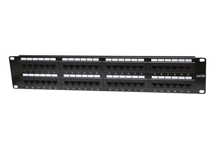 48 Ports Cat5e 1U Unshielded Patch Panel TSF-303C1