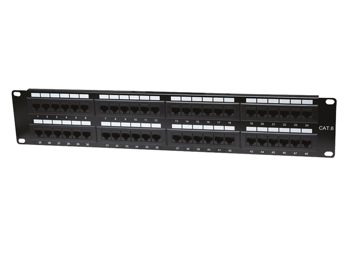 48 Ports Cat6 1U Unshielded RJ-45 Patch Panel TSF-303C2