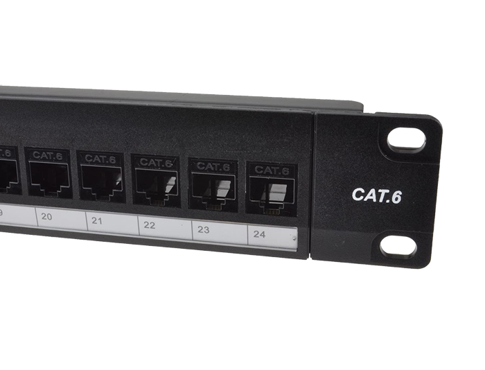 24 Ports Cat6 Unshielded Feed-Through Patch Panels TSF-303H2