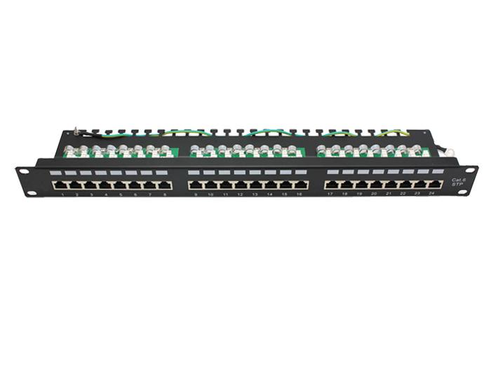 24 Ports Cat6 FTP Shielded 1U Patch Panels TSF-303J2
