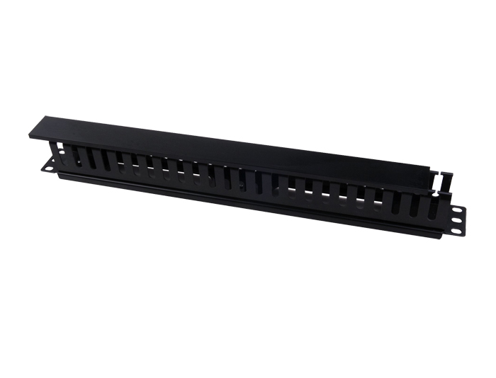 1U 24 Way Metal Single Sided Horizontal Cable Manager With Finger Duct TSF-306C