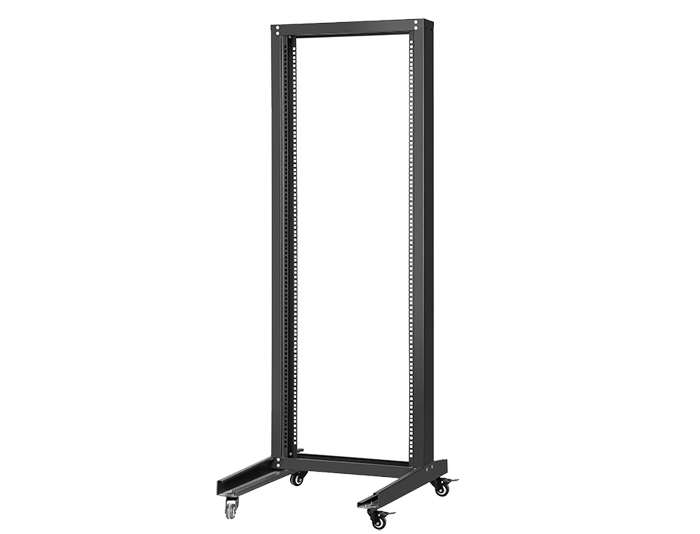 42U 2-Post Open Frame Rack, Black / Grey TSF-205A
