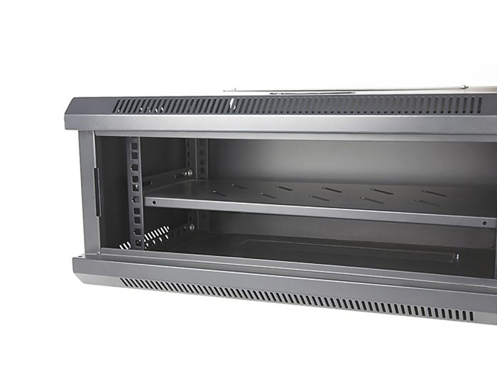 4U Wall Mount Network Cabinet, Black / Grey, TSF-206A