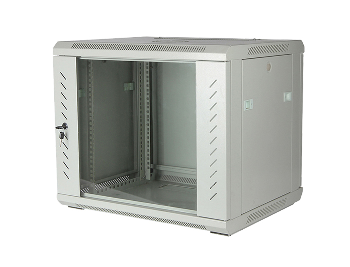 9U Wall Mount Network Cabinet, Black / Grey, TSF-206C