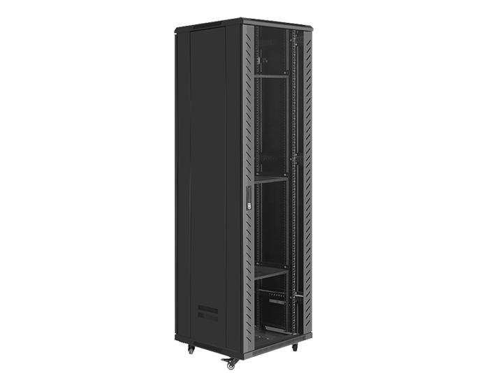 42U Server Rack / 42U Network Cabinet with Glass Door, TSF-207B